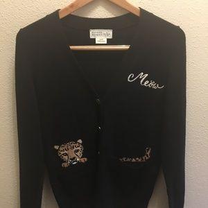 "Kate Spade ""Meow: Cardigan Sweater Sz-XS"